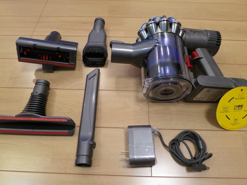ダイソンDC61のノズルはさまざまな用途にいける。